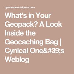 Promo code for san diego magazines best of north county party whats in your geopack a look inside the geocaching bag fandeluxe Choice Image