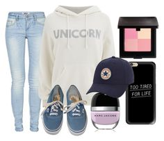 """""""Untitled #754"""" by freedom2095 ❤ liked on Polyvore featuring Casetify, ONLY, Wildfox, Laura Mercier, Vans and Converse"""