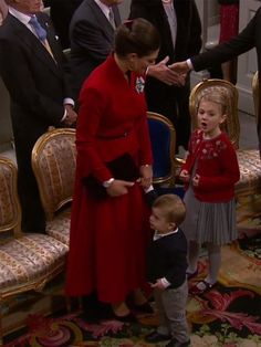 At the christening of Prince Gabriel: Crown Princess Victoria with her children Estelle and Oscar/ Dec.