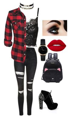 """naughty or nice"" by jokers-babe ❤ liked on Polyvore featuring Topshop, Charlotte Russe and Freedom To Exist"