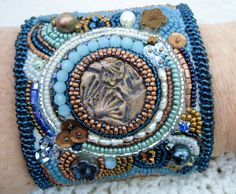 """""""Opposites Attract"""" Bead Embroidered Cuff"""