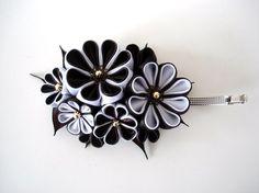 Haarspangen - Französische Haarspange (Weiß+Dunkelbraun) - ein Designerstück von Broot bei DaWanda