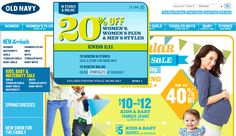 20% off at Old Navy, or online via promo code ONBIG20 coupon via The Coupons App