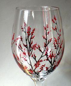 Wine Glass Painting Designs   winter-berries-etsy.jpg