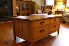 Mission Style Coffee Table With Storage Craftsman Tables Bedroom Furniture