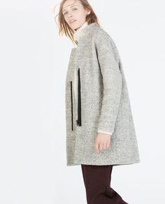 ZARA - WOMAN - ZIPPED BOUCLÉ COAT #winter2014
