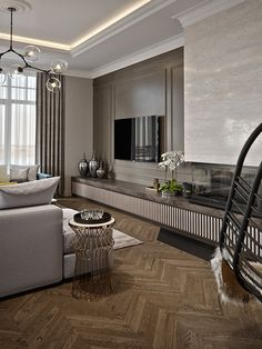 spectacular contemporary living room interior designs ideas to try 18 Modern Apartment Design, Apartment Interior, Living Room Interior, Home Living Room, Home Interior Design, Living Room Decor, Lobby Interior, Interior Office, Office Interiors