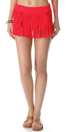 PilyQ Fringe Skirt Cover Up Scarlet Red Your Products Finder Pilyq, Best Swimwear, Fringe Skirt, Scarlet, Your Style, Gym Shorts Womens, Cover Up, Skirts, Red