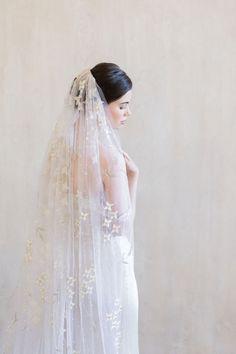 The Best Places To Buy Bridal Veils | OneFabDay.com Short Veil, Wedding Veils, Bridal Veils, Elegant Bride, Bridal Style, Pure Silk, Silver Beads, Beadwork, Blossoms