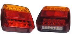 Truck Trailer Red & Amber Combined StopTurn Tail Backup Lights With License Plate Number Light Manufacturers and Factory China - Customized Products - Idun Photoelectric