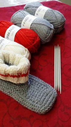Pantoufle bas de laine première partie