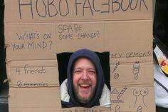 Mendigo cria perfil do Facebook feito de papelao – é o 'Hobo Facebook' http://www.bluebus.com.br/mendigo-cria-perfil-do-facebook-feito-de-papelao-e-o-hobo-facebook/#