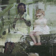 """Tor-Arne Moen: """"BARNEPIKEN PÅ MADAGASGAR"""", (2009), eggoljetempera på lerret (têmpera), 100 x 100 / Galleri A"""