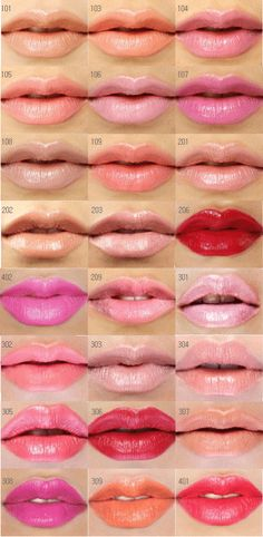 lip stick colors... determined to own everyone of these...