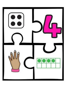 Numeracy Activities, Free Activities For Kids, Toddler Learning Activities, Math For Kids, Puzzles For Kids, All About Me Preschool, Preschool Worksheets, Kindergarten Math, Preschool Activities