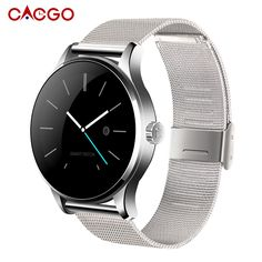 64.50$  Watch here - http://ali727.worldwells.pw/go.php?t=32622114873 - Man Fashion Round Bluetooth Smartwatch Pulsometer Heart Rate Monitor K88H Smart Watches Clock for Apple iPhone Android Phone