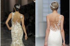 Resultado de imagen para vestidos de novia sencillos con espalda descubierta