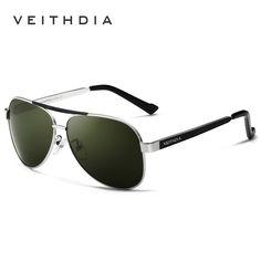 18948a1f06 2017 VEITHDIA Brand New Polarizerd Sunglasses Men Glass Mirror Green Lense  Vintage Sun Glasses Eyewear Accessories Oculos 3152