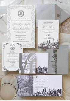 Our Muse - Wintry Philadelphia Wedding - Be inspired by Jamie & Jimmy's wintry wedding in Philadelphia - wedding, invitations, foil printing, letterpress printing