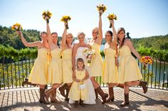 yellow dresses, cowboy boots and sunflowers :)