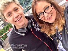 Niall with a fan in London
