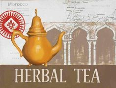 Herbal Tea Yellow Teapot Morocco Marco Fabiano