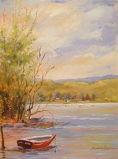 The River's Breeze ~ Artist: Rosemarie Borgmann ~ Oil On Linen ~ A Brisa do Rio___ óleo s/ tela 80x60cm www.arteborgmann.blogspot.com