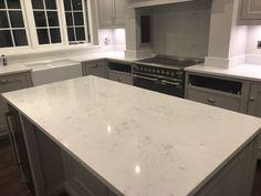 Kitchen of the week… Located in Ware, Herts, showcasing the Monaco Carrera - Rock and Co Granite Ltd Carrera, Monaco, Marble Quartz, Splashback, White Marble, Kitchens, Rock, Skirt, Kitchen