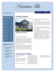 A Multipurpose Inside Newsletter Template Great For Articles