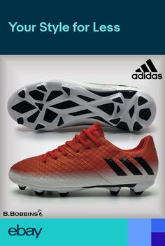 new product 1603d ae4bc Adidas MESSI 16.1 FG Red J Football Boots Boys Girls Size UK 1 2.5 3.5 4 5  5.5
