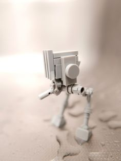 lego micro AT-ST Star Wars garden green water drop rain pluie goutte eau ATANA studio Anthony SÉJOURNÉ