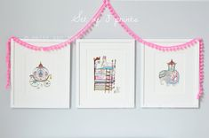 Royal Collection UNFRAMED Nursery Prints Princess and the