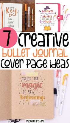 Starting a new journal is always stressful, but don't let it stop you. Check these creative ideas for your Bullet Journal cover page and start creating right away! #mashaplans #bulletjournalideas #bujo #bulletjournaljunkies