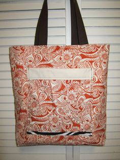 Creamcicle Reversible tote by VirginiaBlueCouture on Etsy, $35.00