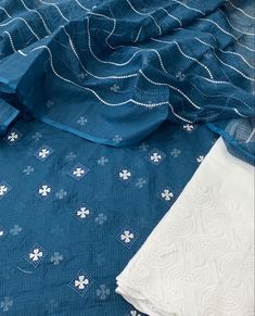 Embroidered Lace Fabric, Cotton Fabric, Embroidery Suits Punjabi, Kurta Designs Women, Indian Suits, Fashion Outfits, Fashion Clothes, Western Wear, Designer Dresses