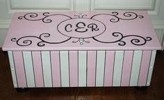 """Monogrammed toy box... Just painted Ms brown today"""" data-componentType=""""MODAL_PIN"""