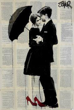 "Saatchi Art Artist Loui Jover; Drawing, ""rain dancing... ((SOLD))"" #art"