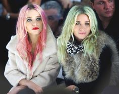 The Olsen Twins -- i think the hair is photoshopped here.. ive seen this pic before and i dont remember that hair