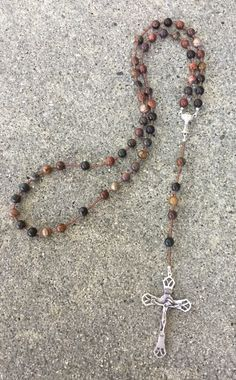 Red creek jasper rosary by SouthernHeartofGA on Etsy https://www.etsy.com/listing/268189173/red-creek-jasper-rosary
