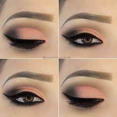 Glam look eye makeup - Eye makeup look - Golden Eye Makeup, Bright Eye Makeup, Colorful Eye Makeup, Natural Eye Makeup, Eye Makeup Tips, Makeup Inspo, Makeup Inspiration, Beauty Makeup, Glam Makeup