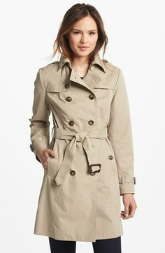 London Fog Quilted Flap Double Breasted Trench Coat (Regular & Petite) (Online Only) | Nordstrom