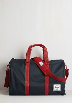 Away With Words Weekend Bag in Navy and Red