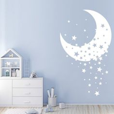 Fantastic baby nursery info are offered on our internet site. Read more and you wont be sorry you did. Clouds Nursery, Moon Nursery, Star Nursery, Nursery Room, Nursery Wall Art, Bedroom Wall, Kids Bedroom, Star Bedroom, Nursery Wall Murals