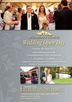 By Mulberry House @Mulberry House We Are Holding Our Wedding Open Day On Sunday 4th May 2014 From 10.30am - 3.30pm. Our Sales Team Will Be Available To Show You Around Our Beautiful Georgian House And Stunning Grounds... http://www.mulberry-house.com/