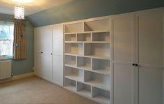 Storage Spaces, Bookshelves, Childrens Bedroom, Closet Under Eaves, Eaves Wardrobe, Under Eaves Bathroom, Bedrooms, Under Eaves Storage, Eaves Storage Ideas