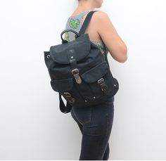 #Vintage black #90s #backpack by #ZvezdanaVintage