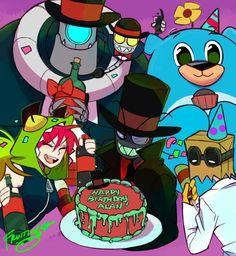 A birthday gift to Alan :D Took me a while though. - Jumping Through FruitLoops Hat Organization, Villainous Cartoon, Nickelodeon, Cool Animations, Doctor Strange, Cartoon Network, Sailor Moon, Memes, Disney