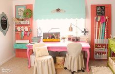 Take a peek into my craft room! This is where all the magic happens. See the full tour from MichaelsMakers  Design Dazzle!