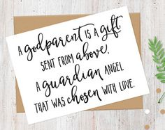 Will you be my Godparents Godparents Gift by vintagebysarahh