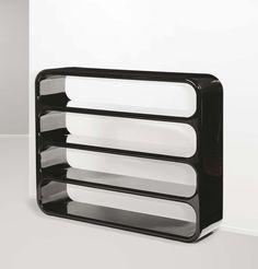 Marzio Cecchi, Lacquered Bookcase, 1970